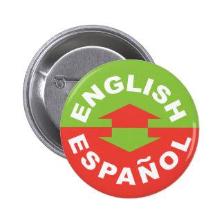Engelse Español - ik spreek het Spaans Ronde Button 5,7 Cm
