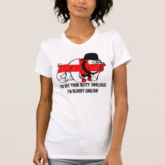 Engelse het Rijmen jargon Engelse vlag T-shirts