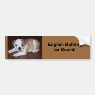 Engelse Raad Bulldogon! Bumpersticker