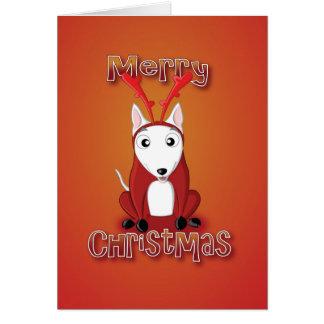 Engelse stieren Terrier-rendier kostuud-vrolijke Kaart