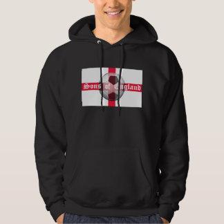 """Engelse Vlag met """"Zonen van Engeland"""" en Football Hoodie"""