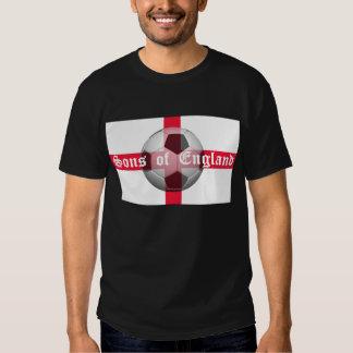 "Engelse Vlag met ""Zonen van Engeland"" en Football Shirts"