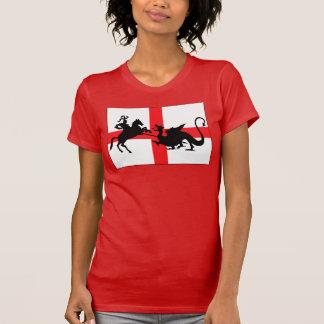 Engelse vlagvrouwen t shirts