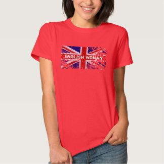 Engelse Vrouw + De Vlag van Union Jack van de Verf