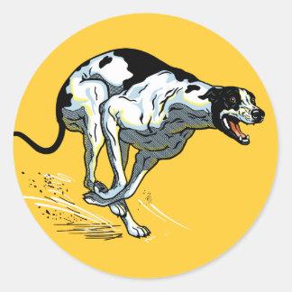 Engelse windhond ronde sticker