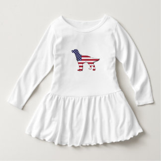 "Engelse Zetter - ""Amerikaanse Vlag "" Baby Jurk"