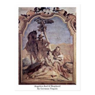 Engelwortel en een Herder door Giovanni Tiepolo Briefkaart