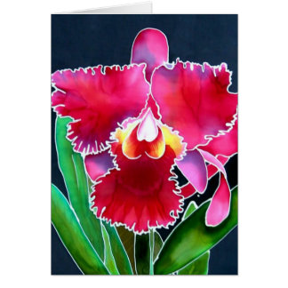 Enige Roze Orchidee Briefkaarten 0