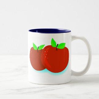 Enkel Appelen Tweekleurige Koffiemok
