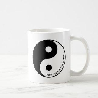 Enkel Bezoekend Deze Planeet Koffiemok