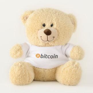 Enkel draagt HODL met bitcoin Knuffelbeer