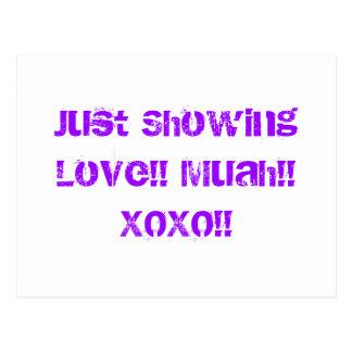 Enkel Tonend Liefde!! Muah!! XOXO!! Briefkaart