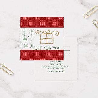 Enkel voor u het Rode Groene Gouden Certificaat Vierkante Visitekaartjes