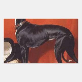 Eos, een Favoriete Windhond van Prins Albert Rechthoekige Stickers