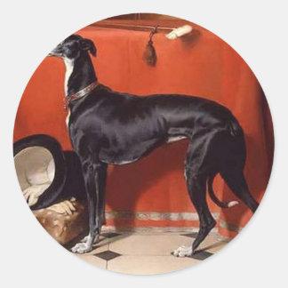 Eos, een Favoriete Windhond van Prins Albert Ronde Sticker