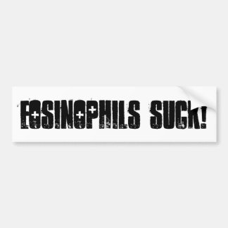 Eosinophils zuigen! bumpersticker