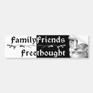 Epicurus: De Vrienden Freethought 2 van de familie Bumpersticker