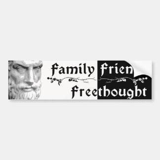 Epicurus: De Vrienden Freethought van de familie Bumpersticker