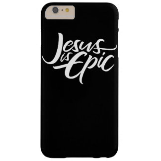 Epische Jesus White Lettering Christian Barely There iPhone 6 Plus Hoesje