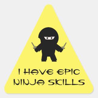 Epische Ninja vaardighedensticker Sticker