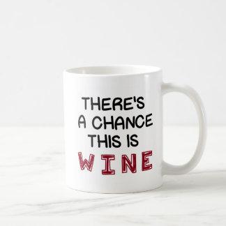 Er is een Kans dit Wijn is Koffiemok