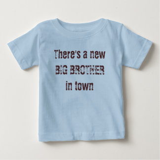 Er is een nieuwe GROTE BROER in stad Baby T Shirts