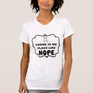 Er is geen plaats zoals de longkankert-shirt van t shirt