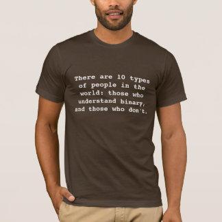 Er zijn 10 soorten mensen in de wereld: thos… t shirt