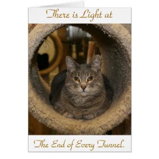 Er zijn Licht bij, het Eind van Elk T… Wenskaart