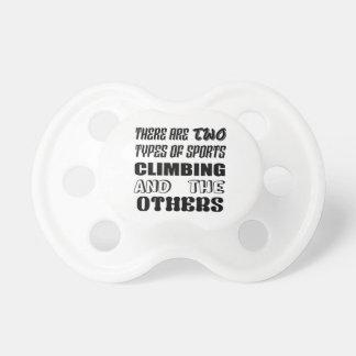 Er zijn twee soorten sporten het Beklimmen en Spenen