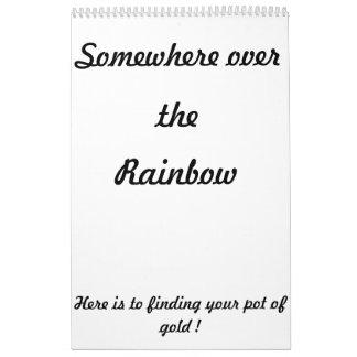 Ergens over de regenboogkalender kalender