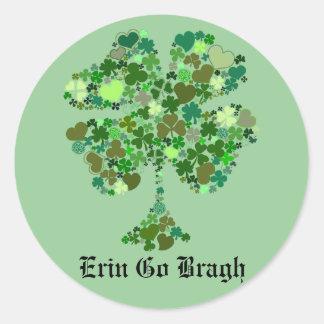Erin gaat Bragh Vier de Sticker van de Klaver van