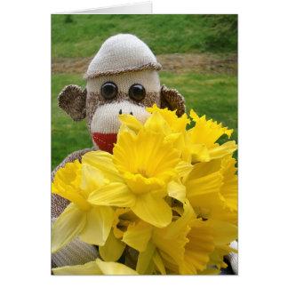 Ernie de Kaart van de Gele narcissen van de Aap