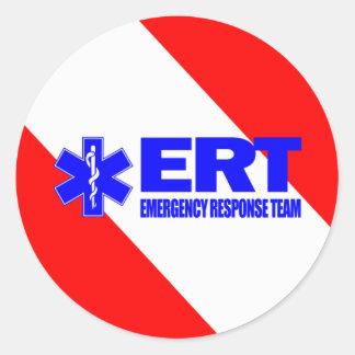 ERT - het Team van de Reactie van de Noodsituatie Ronde Sticker