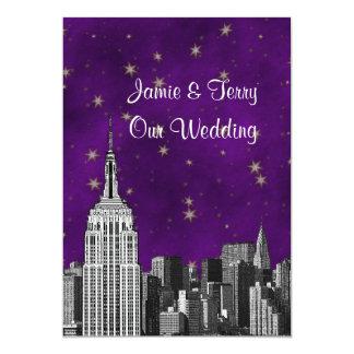 ESB NYC de Horizon etste Paars Sterrig Huwelijk Kaart