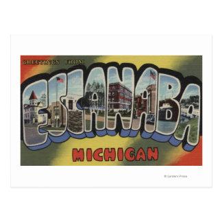 Escanaba, Michigan - de Grote Scènes van de Brief Briefkaart