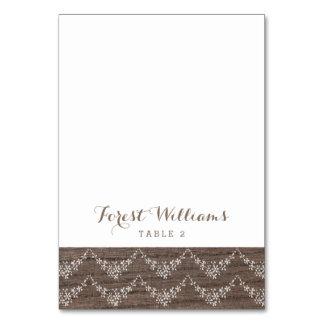 Escorte Placecard van het Huwelijk van het Kant Kaart