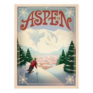 Esp, Colorado   Hellingen van de Ski Briefkaart