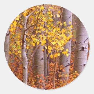 Esp in Herfst Ronde Sticker