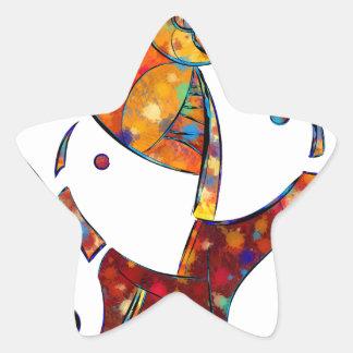 Espanessua - denkbeeldige spiraalvormige bloem ster sticker
