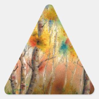 Espen in Herfst Driehoek Sticker
