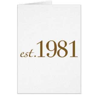 Est 1981 (het Jaar van de Geboorte) Briefkaarten 0