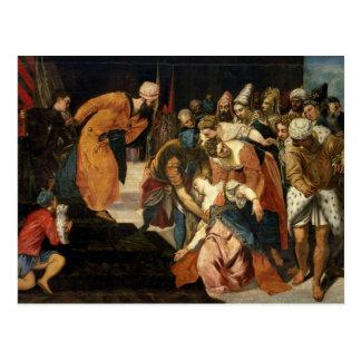 Esther vóór Ahasuerus, 1548 Briefkaart