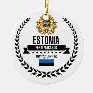 Estland Rond Keramisch Ornament