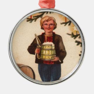 Estlands Man met het Ornament van de Kerstboom van