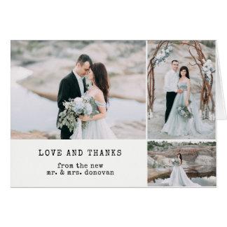 Etherisch Huwelijk | dankt u Foto 3 Briefkaarten 0