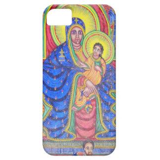 Ethiopian Art iPhone 5 van Madonna en van het Baby Barely There iPhone 5 Hoesje