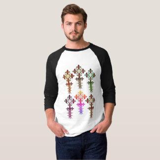 Ethiopische Dwars 3/4 Raglan van het Sleeve T Shirt
