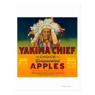 Etiket van Apple van Yakima het Belangrijkste - Briefkaart