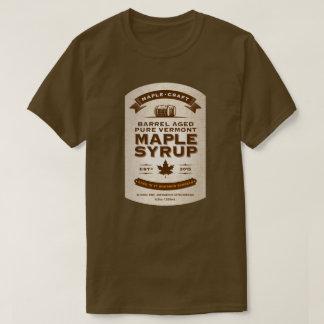 Etiket van de Ahornstroop van de Bourbon van de T Shirt